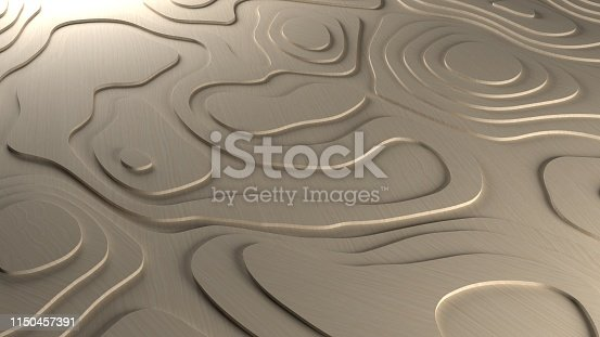 3D Render ofTopology Relief Background