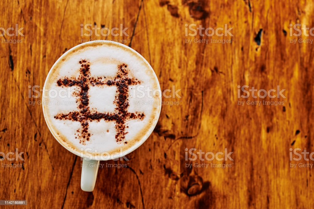 # topped Cappuccino coffee. stock photo