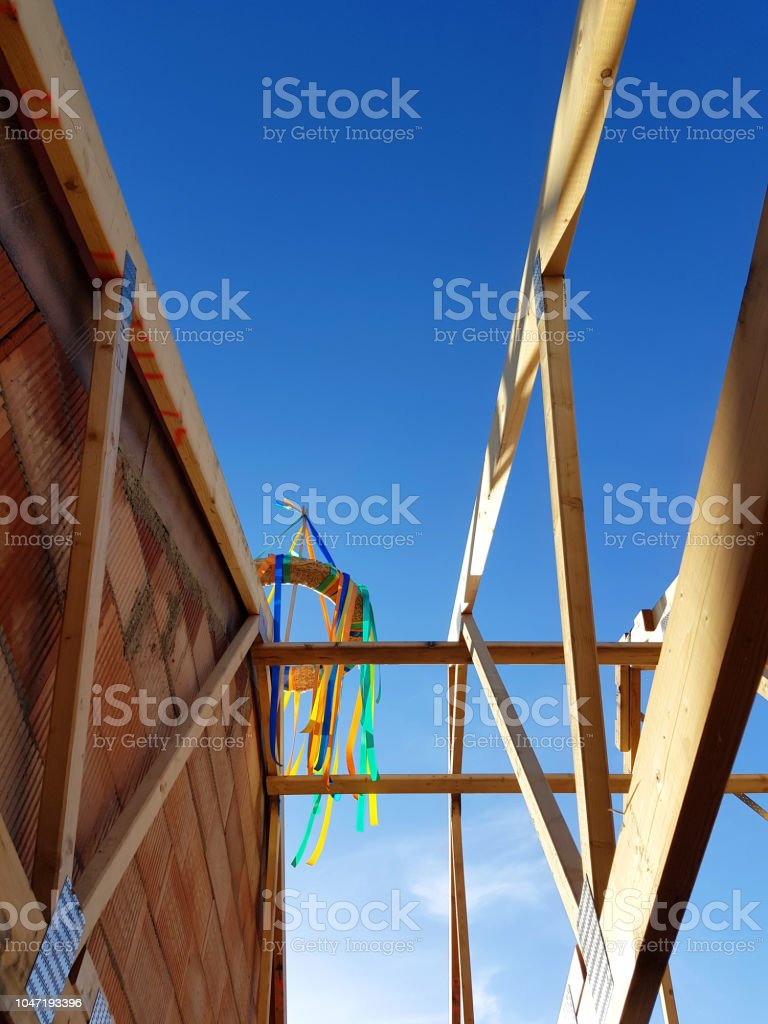 Topping Out Ceremony stock photo