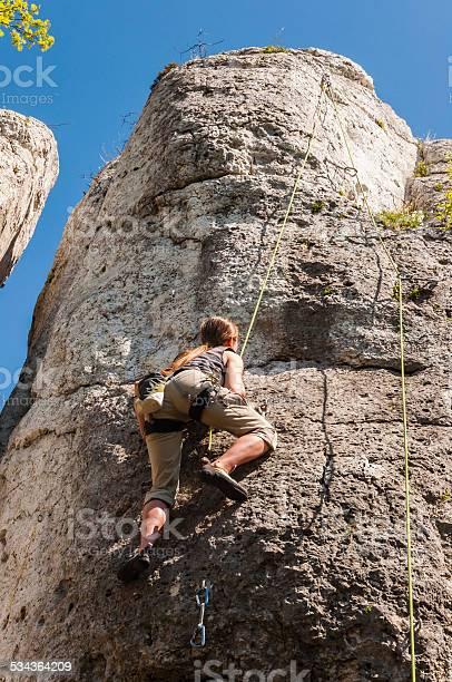 Toprope Klettern Stockfoto und mehr Bilder von 2015