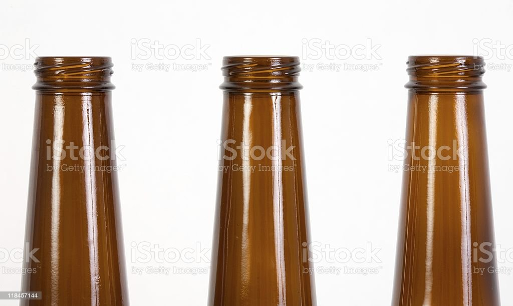 tops of beer bottles royalty-free stock photo