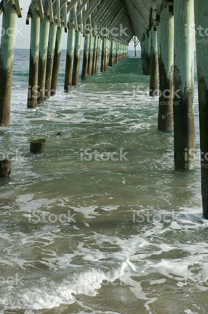 Topsail Island Pier royalty-free stock photo