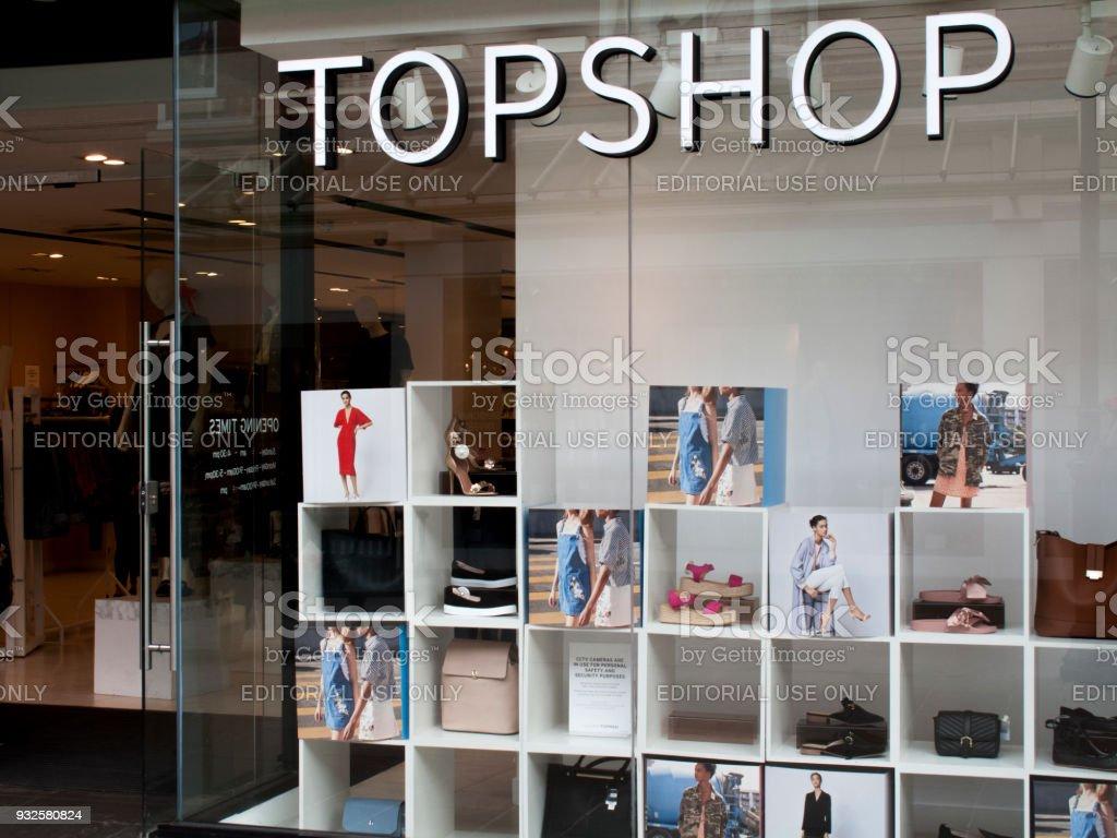 Topshop ladies high street fashion store stock photo
