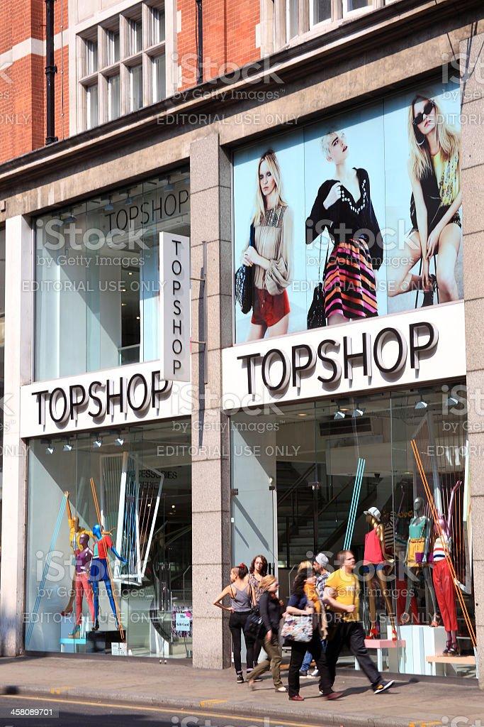 Topshop Retail Store royalty-free stock photo