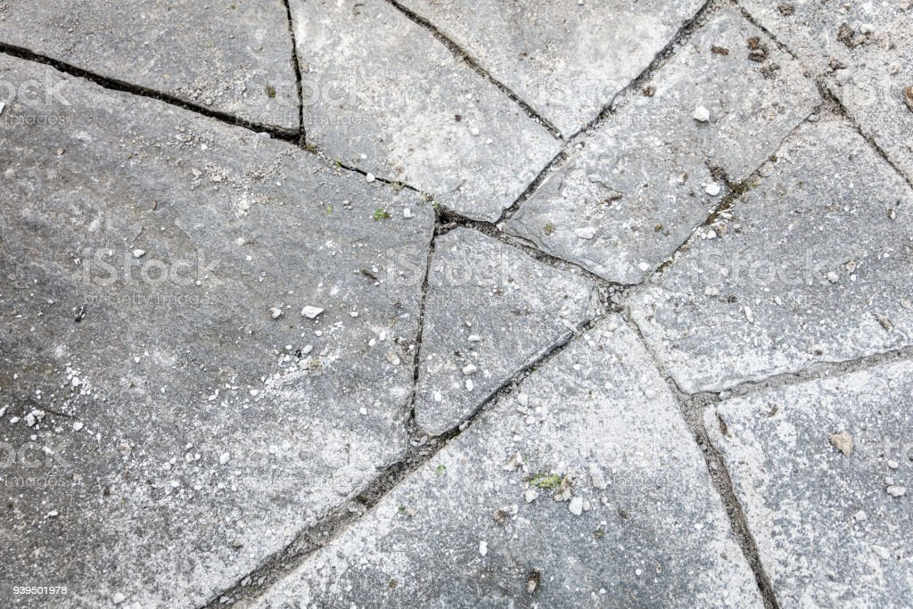 topview of flagstones that need to be grout stock photo