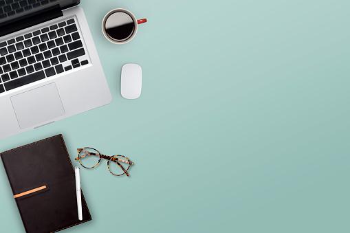 작업 비즈니스 데스크톱의 Topview입니다 경관에 대한 스톡 사진 및 기타 이미지