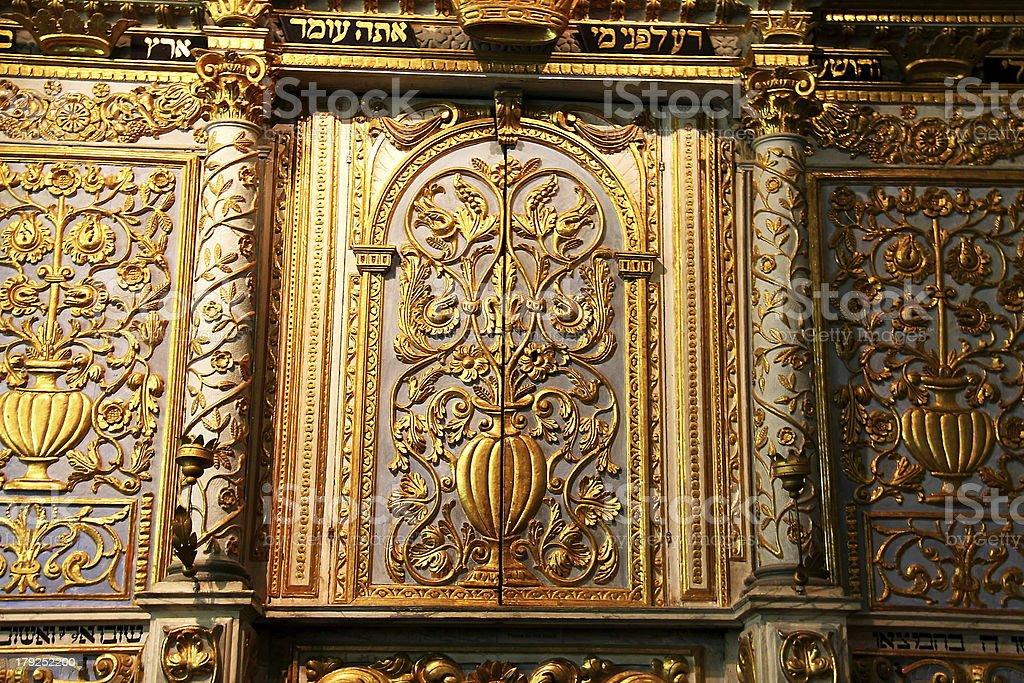 Torah Scrolls Cabinet. stock photo