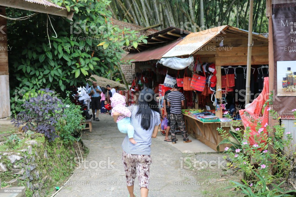 Toraja Market in Kete Kesu stock photo