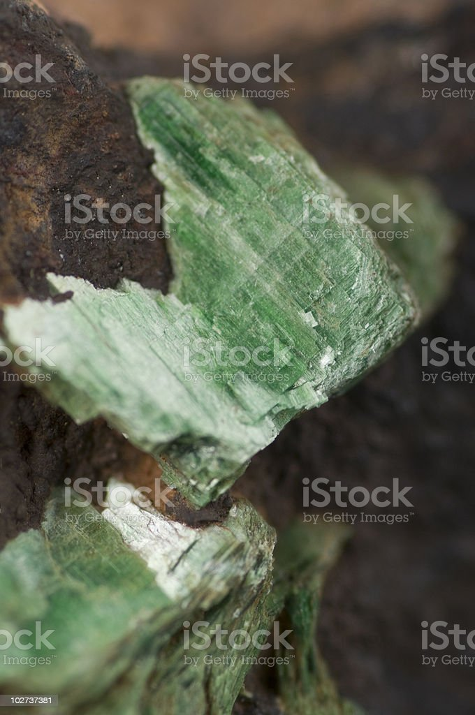 Torbernite Uranium Ore Crystals stock photo