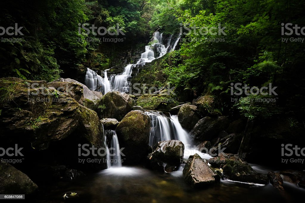 Torc Waterfall, Killarney, Co Kerry, Ireland stock photo