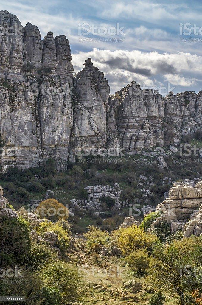 Torcal landscape stock photo