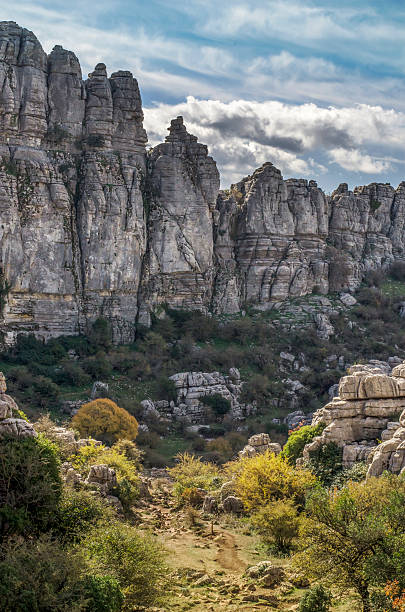 Torcal landscape stock photo