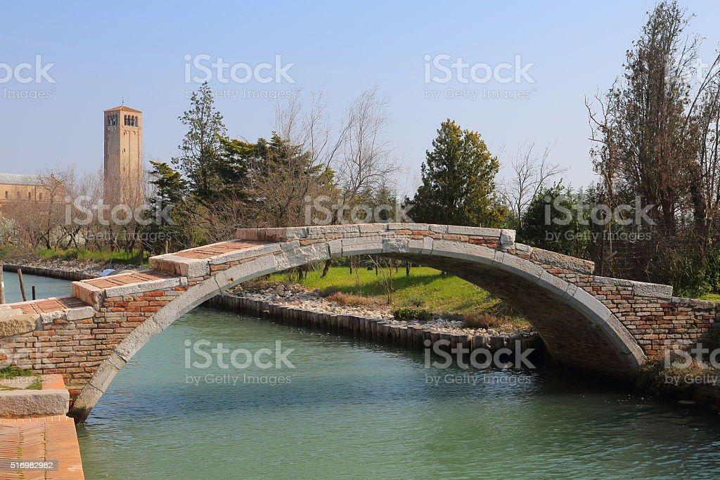 Torcello - Ponte del Diavolo, The devils bridge stock photo