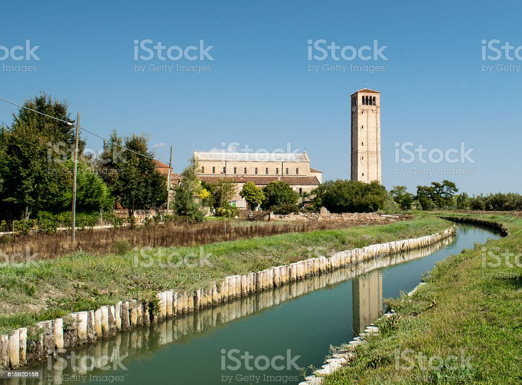 Torcello - View of a channel. stock photo