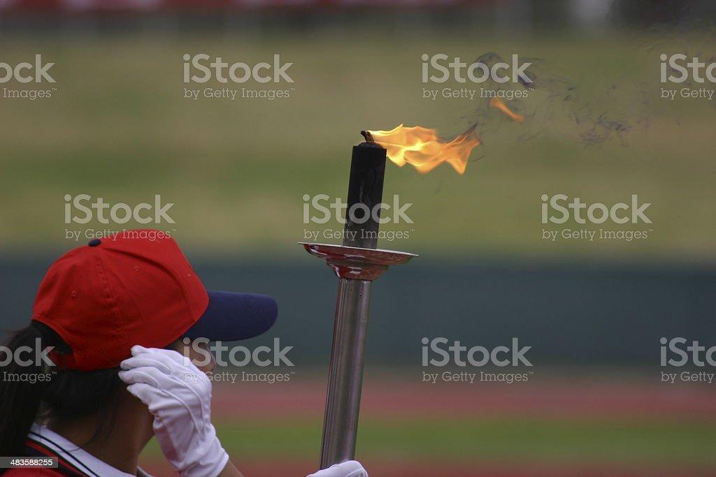 Torch bearer 1 stock photo