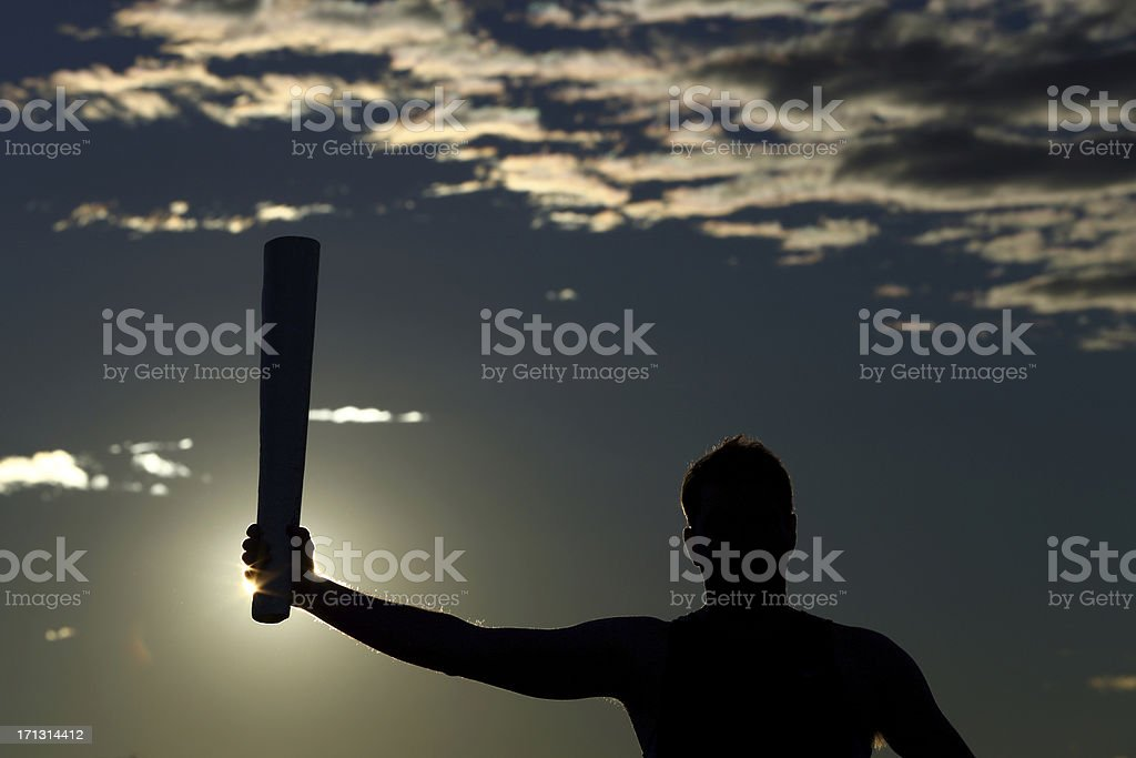 Torch Bearer stock photo