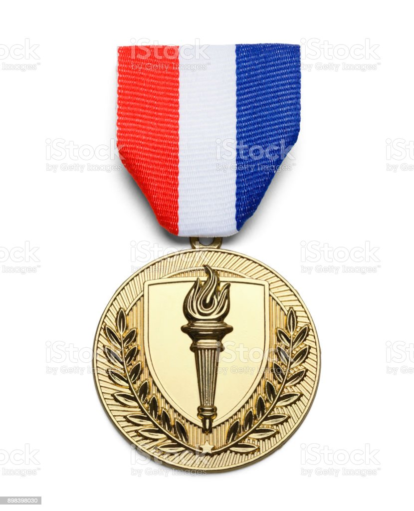 USA Torch Medal stock photo