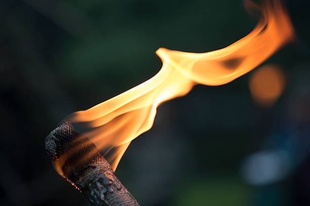 Torch Fire in a Torch flaming torch stock pictures, royalty-free photos & images