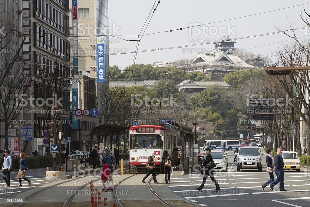 Torichosuji Shopping District in Kumamoto, Japan stock photo