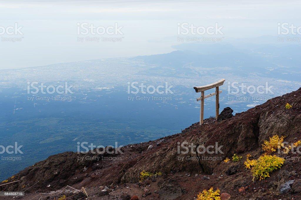 Torii Gate in the Sky, Mount Fuji ストックフォト