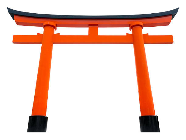 Torii traditional Japanese gate isolated on white. Torii traditional Japanese gate isolated on white. torii gate stock pictures, royalty-free photos & images