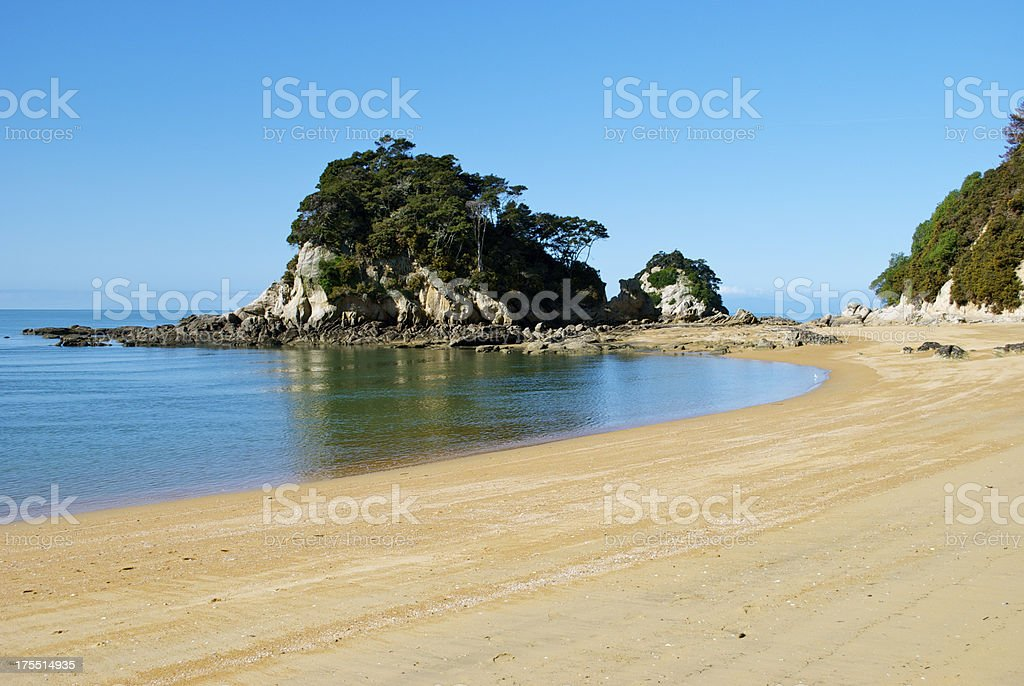 Torlesse Rock, Kaiteriteri, Tasman Region, New Zealand stock photo