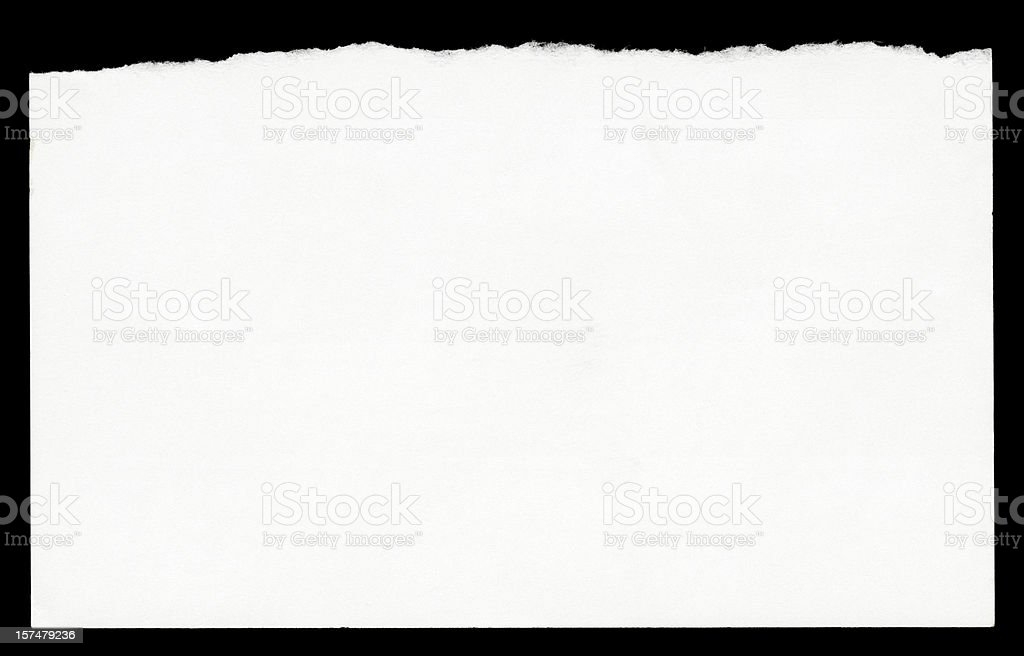 Torn Blank Note Paper stock photo