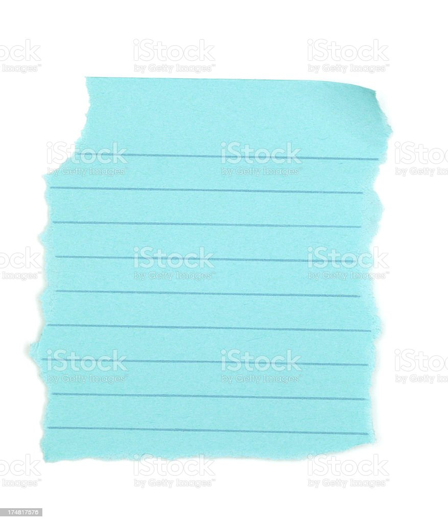 Torn Blue Paper Isolated royalty-free stock photo
