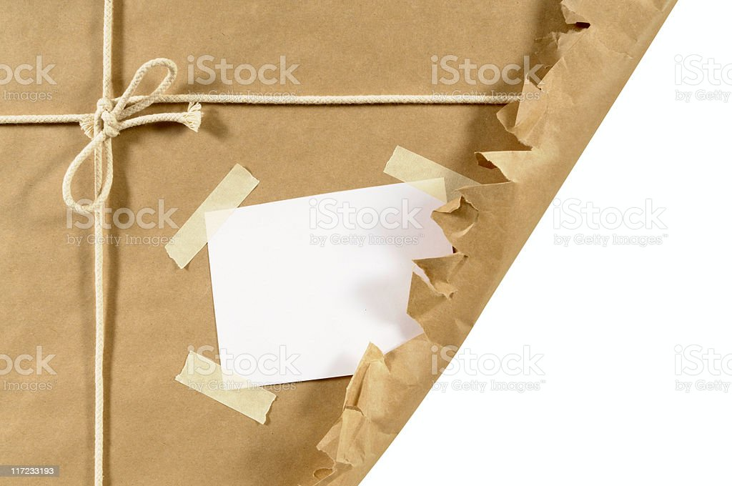 Torn brown package royalty-free stock photo