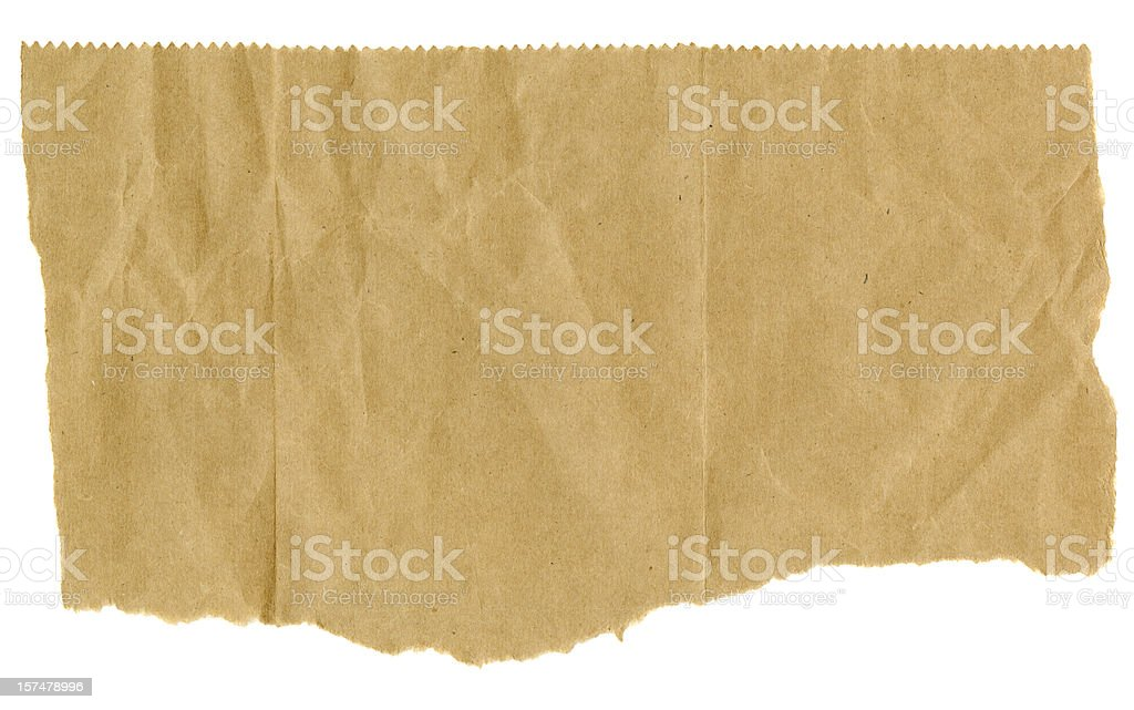 Torn Brown Paper with Serrated Edge on Top​​​ foto