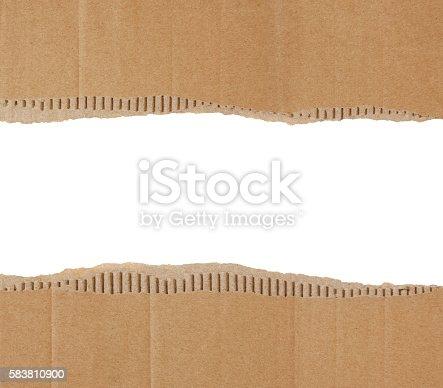 istock Torn Cardboard Border 583810900