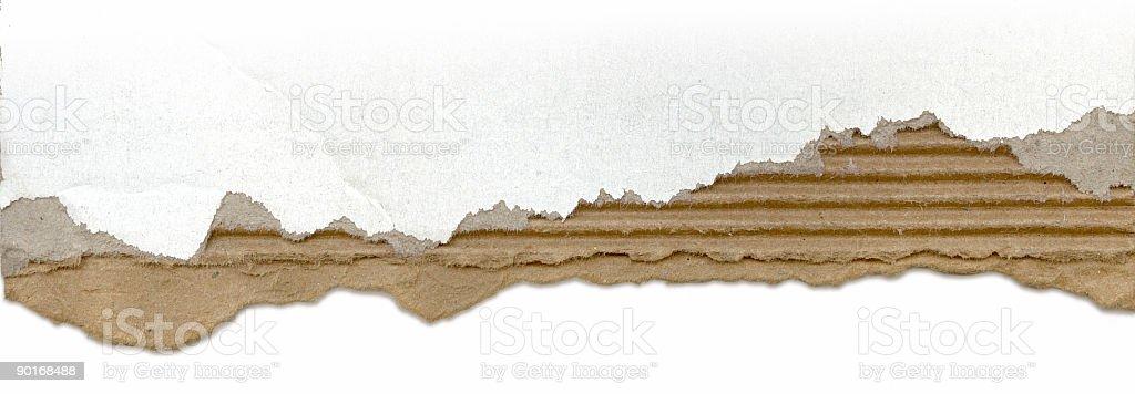 Torn cardboard edge royalty-free stock photo