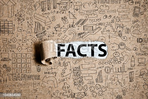 FACTS - Torn cardboard paper empty space for text (Click for more)