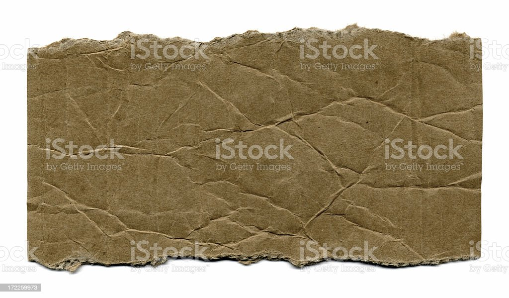Torn Cardboard Paper royalty-free stock photo