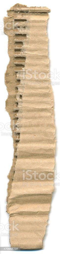 Torn Cardboard #1 royalty-free stock photo