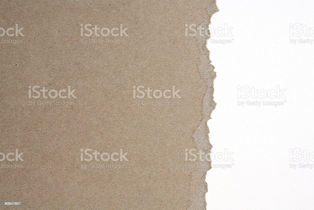 Torn Cardboard royalty-free stock photo