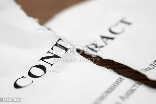 istock Torn contract 838507806