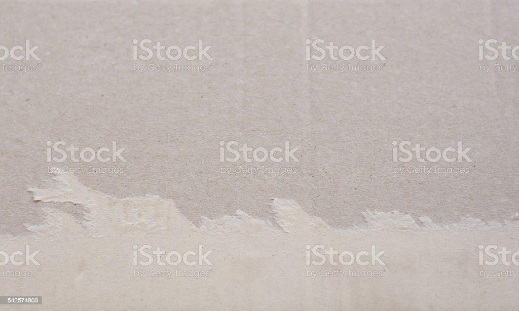 Torn corrugated fiberboard stock photo