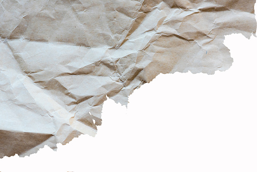 Torn crumpled paper, detail for designers ideas