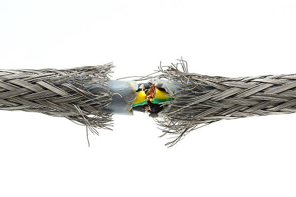 torn damaged power cable - incomplete stock pictures, royalty-free photos & images
