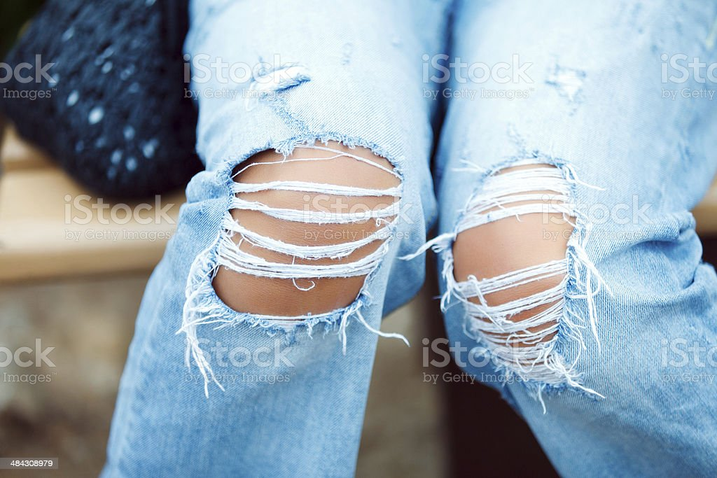 Torn Jeans stock photo