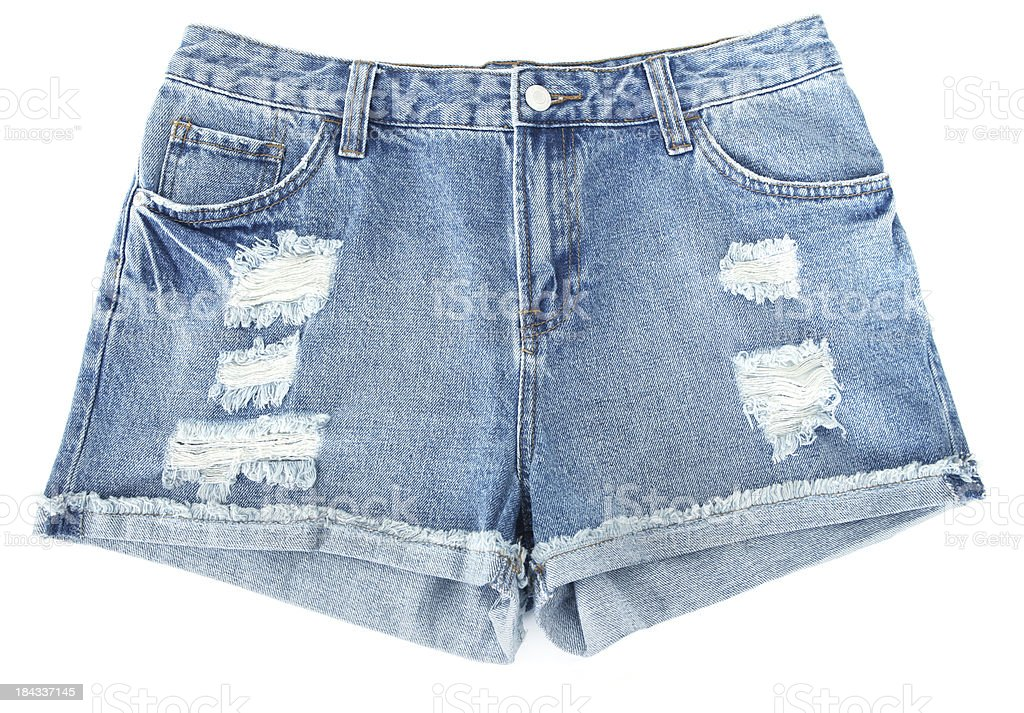 Torn Jeans Shorts stock photo
