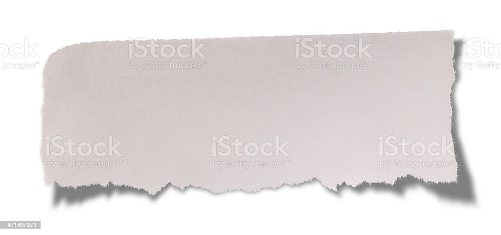 Torn Newspaper royalty-free stock photo