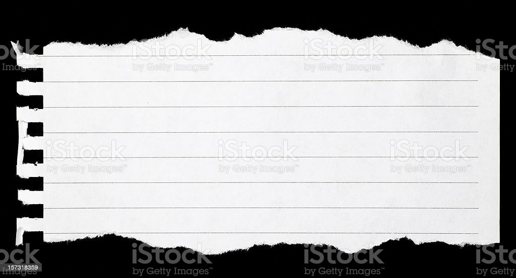Torn notebook page stock photo
