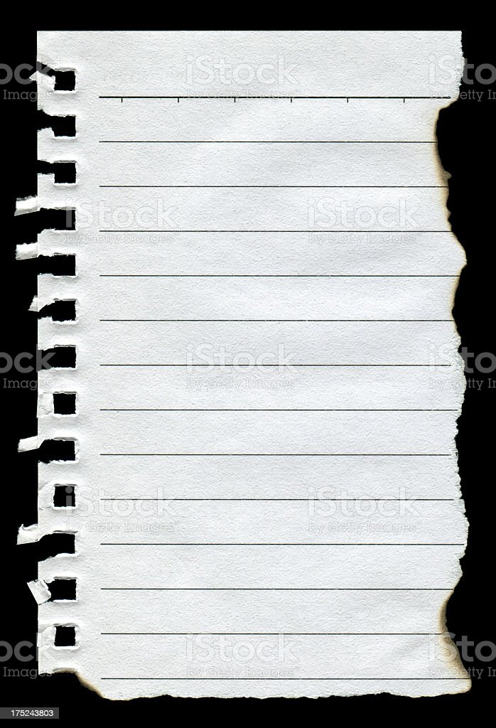 Torn notepad page royalty-free stock photo