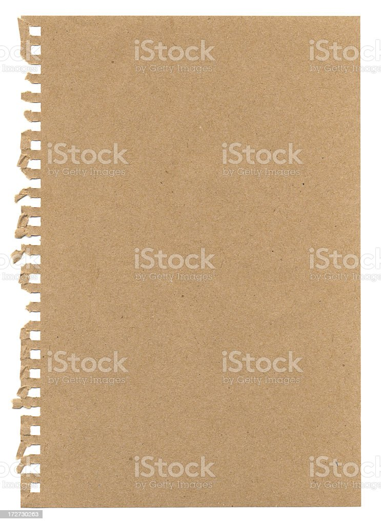 XXXL Torn Notepaper royalty-free stock photo
