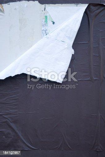 istock Torn notice board 184102957