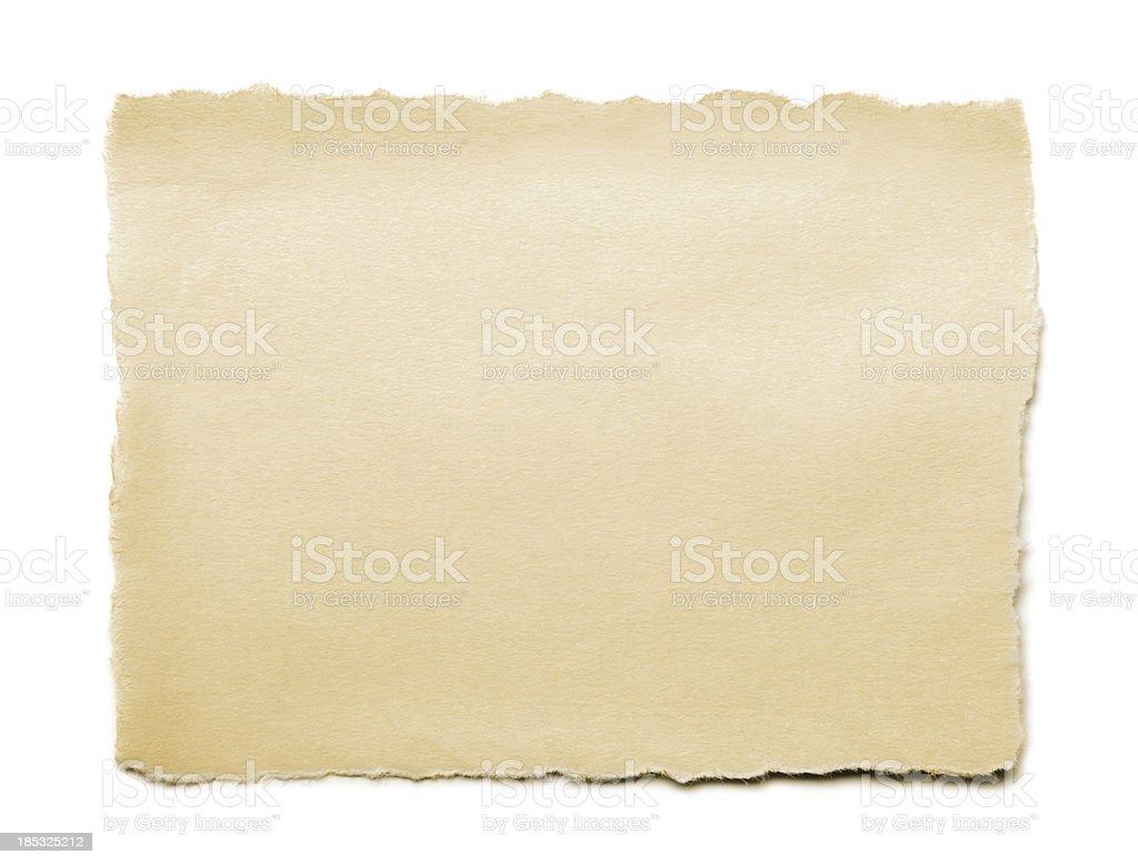 Velho papel Rasgado - foto de acervo