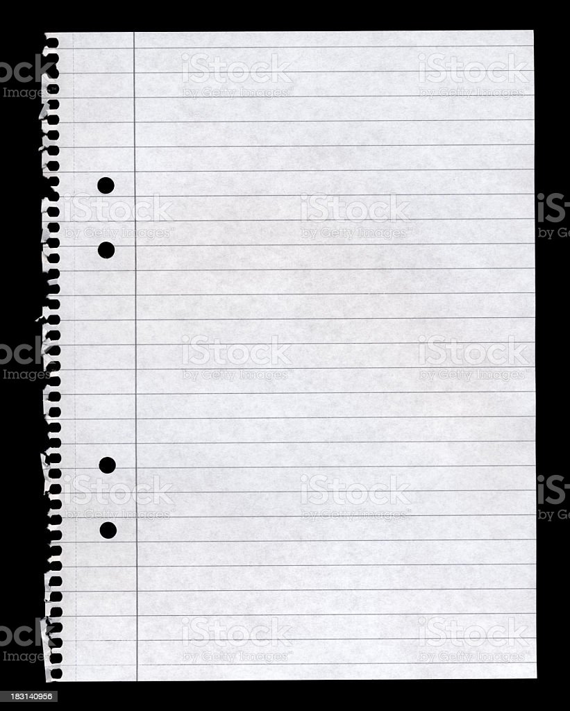 Torn out notepad paper royalty-free stock photo