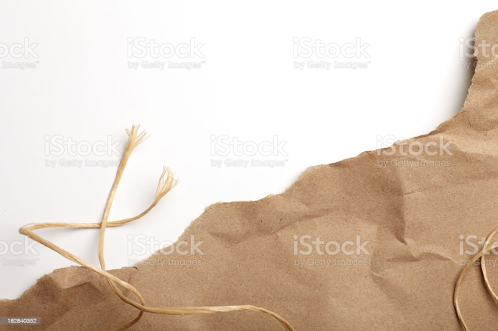 Torn Package stock photo